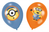 6 Latexballoner med Minions™ fra Grusomme Mig™