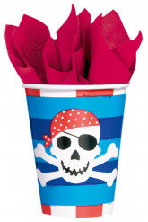 8 Papkrus med en smilende pirat