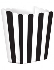 5 Popcorn bokse sort/hvid