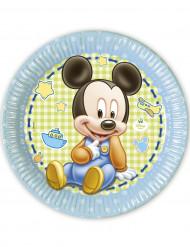 8 Tallerkener Baby Mickey™ 23 cm.