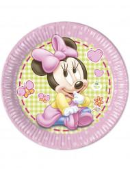 8 Paptallerkener Baby Minnie™ 23 cm