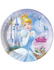 8 Blå tallerkener Askepot™ 23 cm.