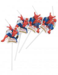 6 Sugerør Spiderman™