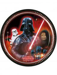 8 Tallerkener Darth Vader Star Wars™ 23 cm.
