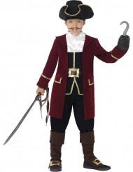 Piratkaptajn kostume dreng