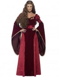 Rød udklædningsdragt dronning i middelalderen voksen
