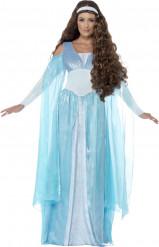 Kostume blå middelalder prinsesse