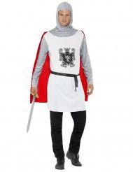 Kostume ridder i hvidt mand