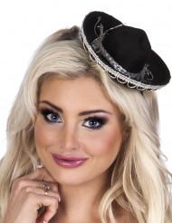 Minihat sombrero sort til kvinder
