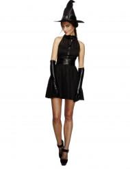Udklædning cool sort heks kvinde