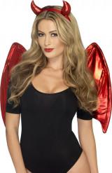 Dæmonkit rød kvinde Halloween