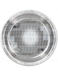8 tallerkener disco 23 cm