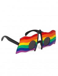 Briller med flerfarvede flag