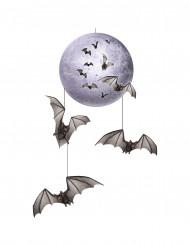 Dekoration hængende måne med flagermus Halloween