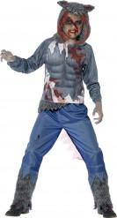 Blodig varulv-kostume drenge Halloween