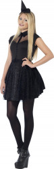 Udklædning sort heks teenager halloween