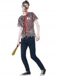 Udklædning teen zombie-baseballspiller halloween