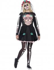 Udklædning farverigt skelet halloween teenager