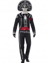 Udklædningsdragt mexicanks skelet voksen Halloween