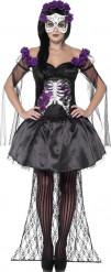 Lilla mexicansk skelet halloween kostume kvinde