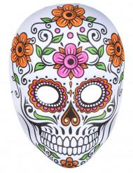 Maske skelet flerfarvet voksen Halloween