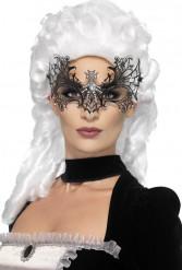Maske spindelvæv med strass voksen Halloween