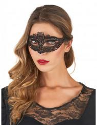 Maske sorte blonder kvinde