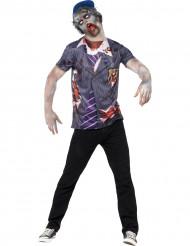 Udklædning zombie skoledreng halloween mand