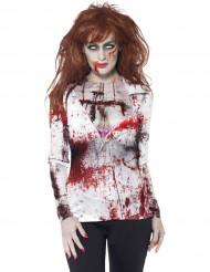 Sexet zombie T-shirt voksen Halloween
