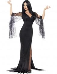 Sort elegant heksekostume til kvinder
