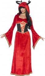 Kostume djævelk dronning voksen halloween