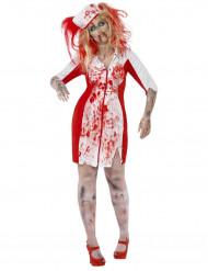 Udklædning zombie-sygeplejerske kvinde