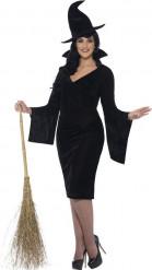 Udklædning sort heks halloween kvinde
