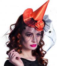 Minihat heks orange kvinde Halloween
