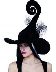 Hat heks sort med fjer kvinde Halloween