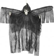 Dekoration hængende sort skeletengel Halloween