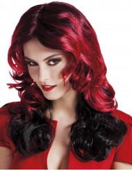 Paryk middellang rød og sort kvinde