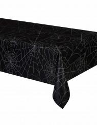 Sort plastikdug med spindelvæv 137 x 213 cm