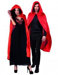Kappe rød veloureffekt 120 cm voksen Halloween