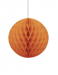 Papirkugle honeycomb orange Halloween