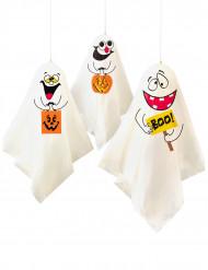 Dekoration 3 spøgelser Halloween