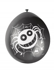 Halloween 10 balloner med edderkop
