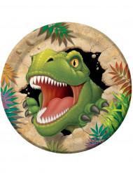 Dinosaurer paptallerkener 23 cm