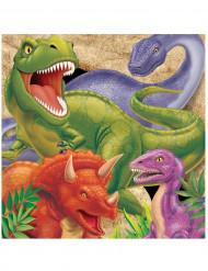 16 Papirservietter Dinosaurer 33 x 33 cm