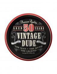 8 små paptallerkener Vintage 50 års 18 cm