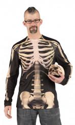 Skelet t-shirt voksen halloween