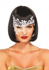 Venetiansk maske hvid