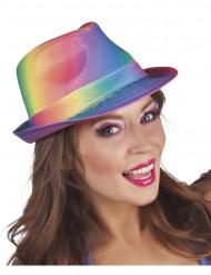 Regnbuefarvet hat - voksen