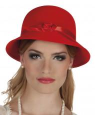 Rød 20er-charlestonhat - kvinde
