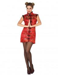 Kostume rød kineser til kvinder